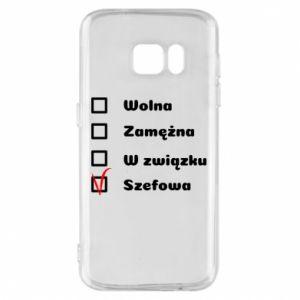 Phone case for Samsung S7 Boss - woman - PrintSalon