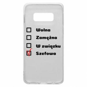 Phone case for Samsung S10e Boss - woman - PrintSalon