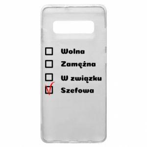 Phone case for Samsung S10+ Boss - woman - PrintSalon