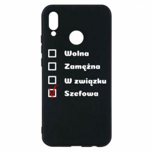 Phone case for Huawei P20 Lite Boss - woman - PrintSalon