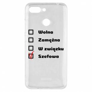 Phone case for Xiaomi Redmi 6 Boss - woman - PrintSalon