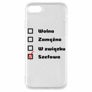 Phone case for iPhone 7 Boss - woman - PrintSalon