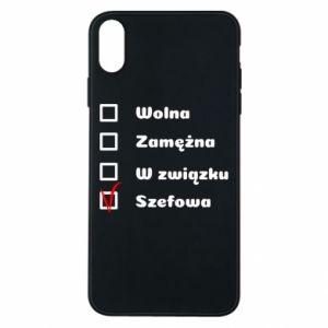 Etui na iPhone Xs Max Szefowa