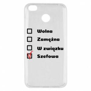 Etui na Xiaomi Redmi 4X Szefowa
