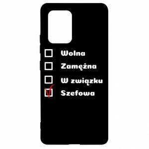 Etui na Samsung S10 Lite Szefowa
