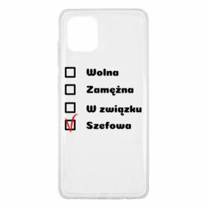 Etui na Samsung Note 10 Lite Szefowa