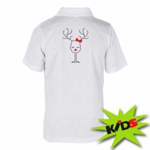 Dziecięca koszulka polo Szklany jeleń
