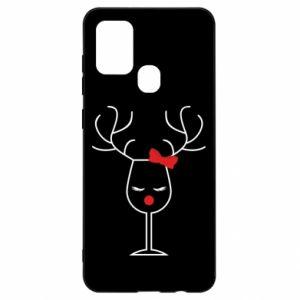 Samsung A21s Case Glass deer