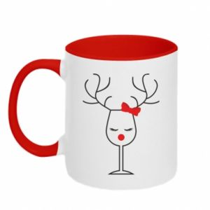Two-toned mug Glass deer