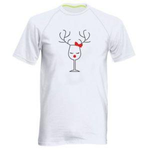 Men's sports t-shirt Glass deer
