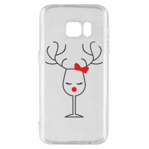 Phone case for Samsung S7 Glass deer