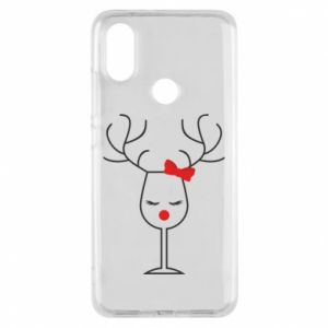 Phone case for Xiaomi Mi A2 Glass deer