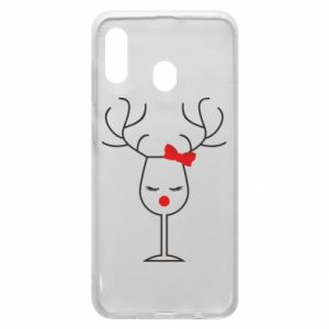 Phone case for Samsung A20 Glass deer