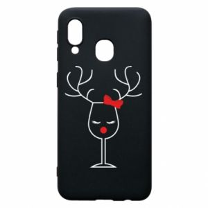 Phone case for Samsung A40 Glass deer
