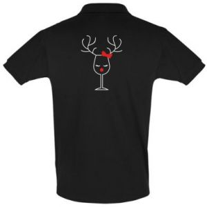 Men's Polo shirt Glass deer