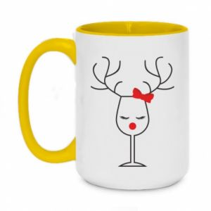 Two-toned mug 450ml Glass deer