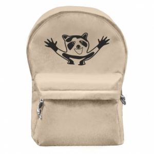 Backpack with front pocket Cute raccoon