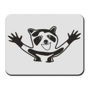 Mouse pad Cute raccoon
