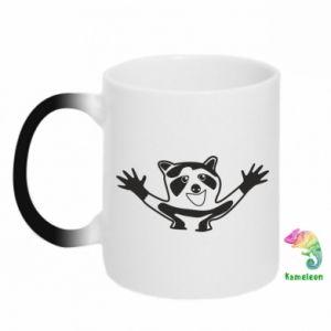 Chameleon mugs Cute raccoon