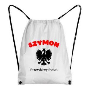 Plecak-worek Szymon jest prawdziwym Polakiem
