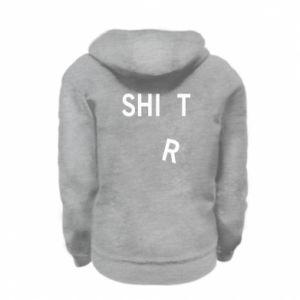 Kid's zipped hoodie % print% T-SHIrT