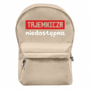 Backpack with front pocket Mysterious unavailable - PrintSalon