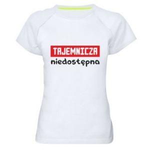 Women's sports t-shirt Mysterious unavailable - PrintSalon