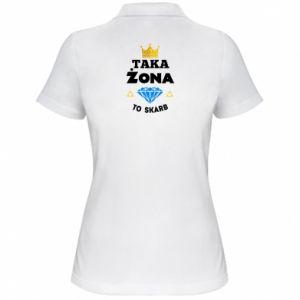 Damska koszulka polo Taka żona to skarb