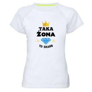 Koszulka sportowa damska Taka żona to skarb