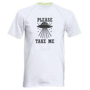Men's sports t-shirt Take me please