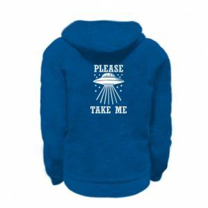 Kid's zipped hoodie % print% Take me please