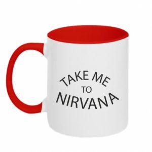 Kubek dwukolorowy Take me to nirvana