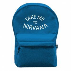 Plecak z przednią kieszenią Take me to nirvana