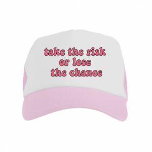 Czapka trucker dziecięca Take the risk or lose the chance