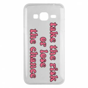 Etui na Samsung J3 2016 Take the risk or lose the chance
