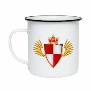 Kubek emaliowany Tarcza Polska