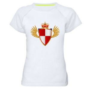 Koszulka sportowa damska Tarcza Polska