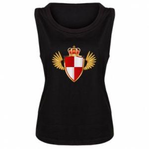 Koszulka bez rękawów damska Tarcza Polska