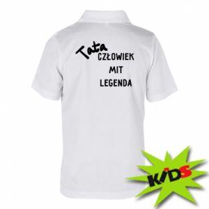 Koszulka polo dziecięca Tata Człowiek Mit Legenda