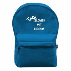 Plecak z przednią kieszenią Tata Człowiek Mit Legenda