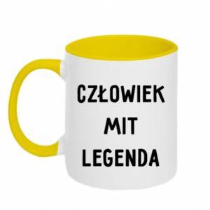 Two-toned mug Man, Myth... - PrintSalon