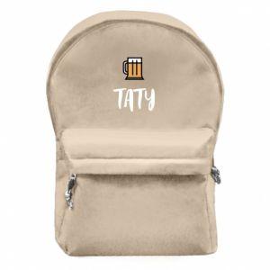 Plecak z przednią kieszenią Tata i piwo