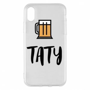 Phone case for iPhone X/Xs Daddy and beer
