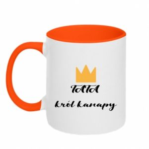 Two-toned mug Dad, king of the couch - PrintSalon
