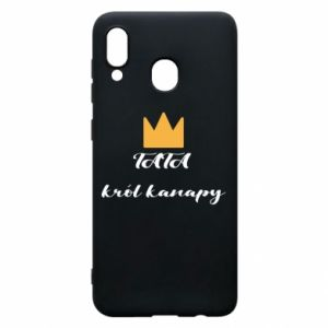 Phone case for Samsung A20 Dad, king of the couch - PrintSalon
