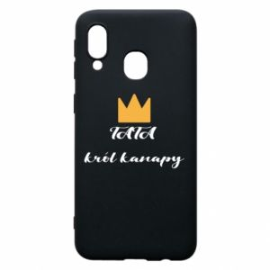 Phone case for Samsung A40 Dad, king of the couch - PrintSalon