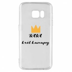 Phone case for Samsung S7 Dad, king of the couch - PrintSalon