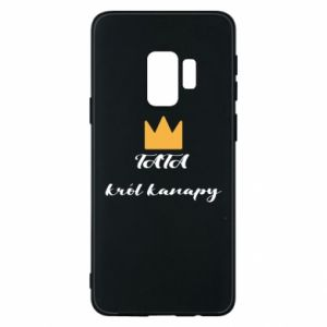 Phone case for Samsung S9 Dad, king of the couch - PrintSalon