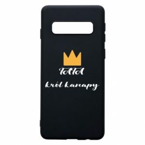 Phone case for Samsung S10 Dad, king of the couch - PrintSalon
