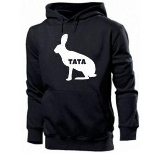 Męska bluza z kapturem Tata - królik